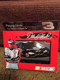 Dale Earnhardt tin car two decks playing cards collectible.