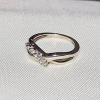 Vintage Sterling Silver Diamond Ring Ashburn