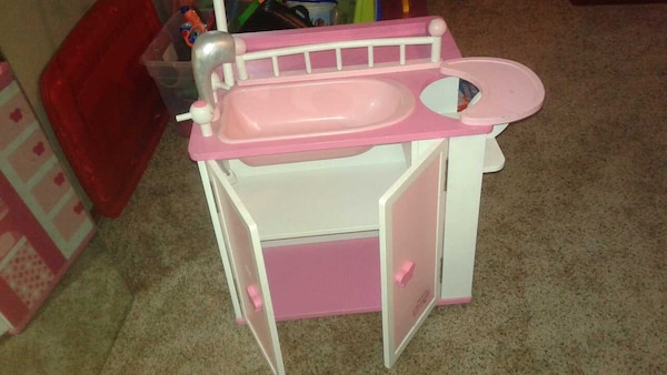 Used My Little One wooden baby doll care center for sale ...