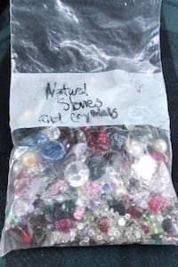 Various precious and semi precious stones.  102 grams worth.  Pearls, rubies, sapphires etc.  great for making your own jewelry. Fullerton, 92831
