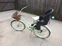 White and green cruiser bike with baby seat New Roads, 70760