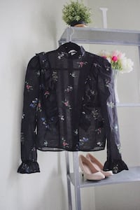 black and red floral button-up jacket Montréal, H4L 5P3