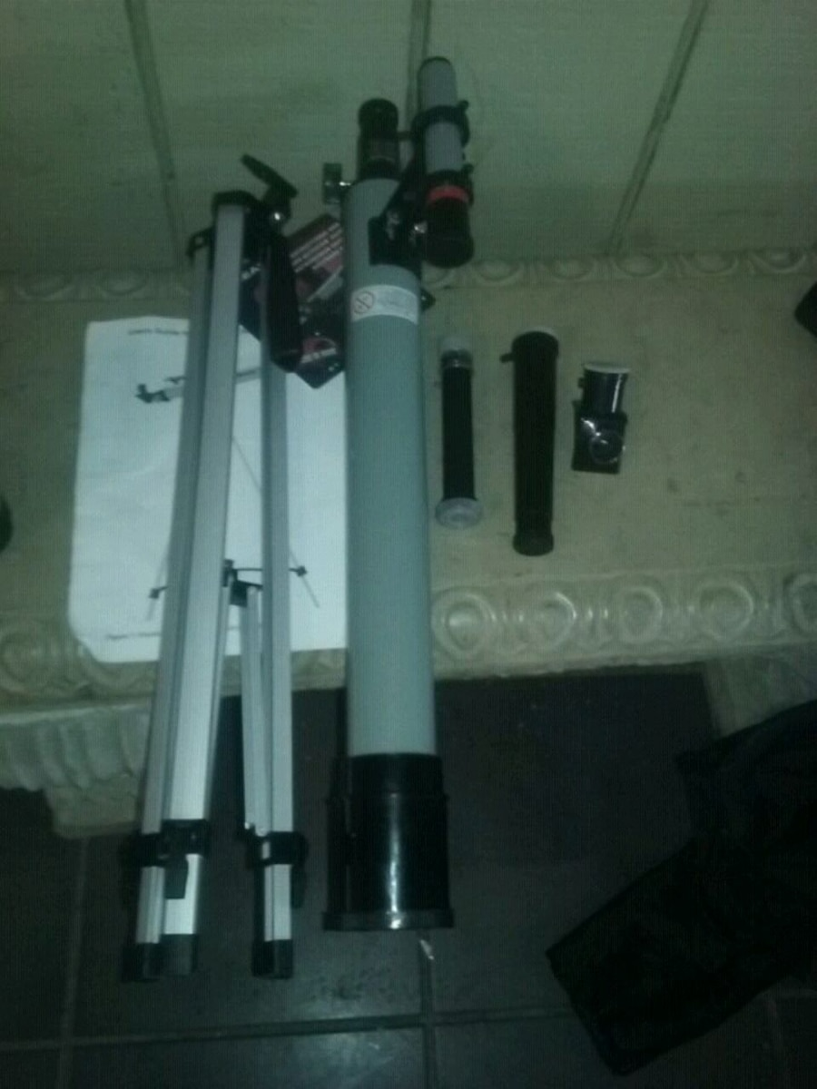 Used, gray and black refractor telescope for sale  Panama City