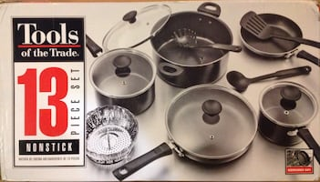 Tools of the Trade 13 Piece Non-Stick Cookware.