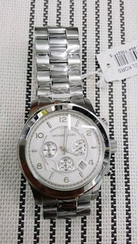 round silver-colored chronograph watch with link bracelet Peel Regional Municipality