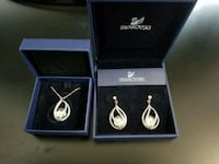 Swarovski pendant and matching earrings  Markham, L3S 3N7