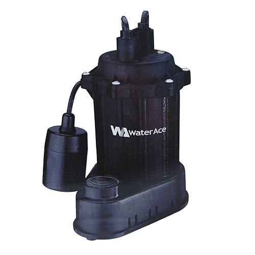 Water Ace 1/3 HP Cast Iron Submersible Sump Pump R3S