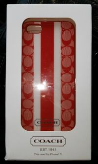 Coach iPhone 5 cell phone case