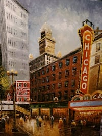 Beautiful depiction of Chicago Theater