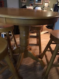 Round  pub table with four stools dining set Hardy, 24101