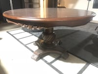 oval brown wooden coffee table North Las Vegas, 89084