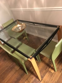 GLASS DINING TABLE WITH 4 CHAIRS Marietta, 30060