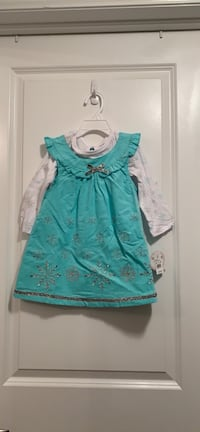 Snowflakes Aqua Dress set-2T