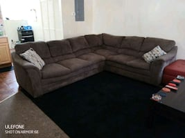 L sectional sofa with recliner
