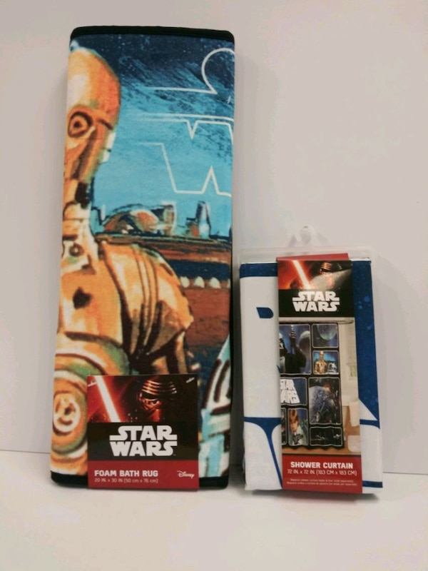 Star Wars Shower Curtain And Rug