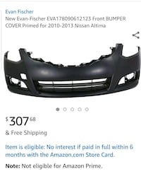 Front bumper for Nissan Altima  Vienna, 22180