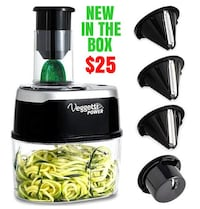 BRAND NEW IN BOX Veggetti Power 4-in-1 electric ve Queens