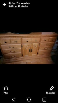 brown wooden 6-drawer dresser Saint-Lin - Laurentides, J5M 2K8