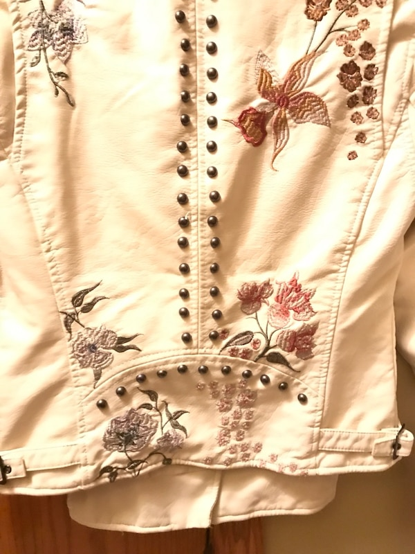 Nnew- Leather Embroidered & Stud beaded jacket.   New ea75e028-10a0-41a5-85ae-61d7ec4bdc4b