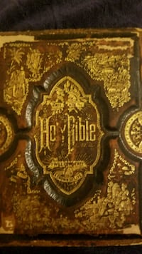 1800s bible hard wood backing  Sterling, 20166