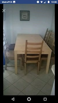 Ikea table with chairs. Annandale, 22003