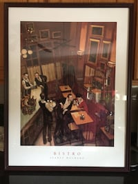 Framed Bistro by Juarez Machado 24x36 Art print Poster Methuen, 01844