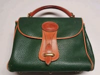 Vintage Dooney and Bourke Green Leather Hand Bag  12 mi