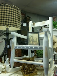 white wooden framed brown padded armchair Fort Worth
