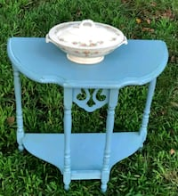 Small wooden turquoise table Rockville, 20852