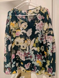 Forest green Guess Medium floral blouse