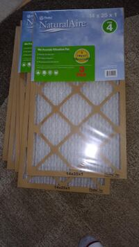 8 new 14x25x1 FPR 4 Pleated Furnace  Air Filters Glenn Dale