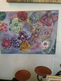 white, pink, and green flower painting Prineville, 97754
