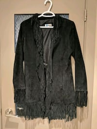 Women Suede leather black jacket with tassels Calgary, T2E 0B4