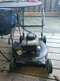 Push mower.  12 km
