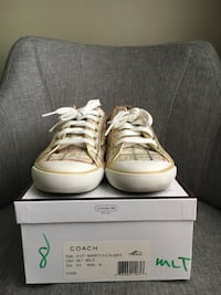 Coach white and beige low top sneakers