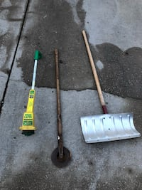 Weed whacker, metal snow shovel, and a hoe Bowie, 20720
