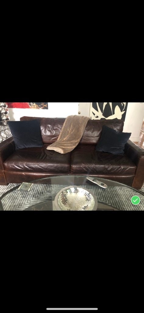 Maxwell Leather Sofa ( Restoration Hardware)