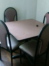 rectangular brown wooden table with six chairs dining set Atlanta, 30349