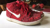 Pair of red-and-white nike sneakers 8.5 2331 mi