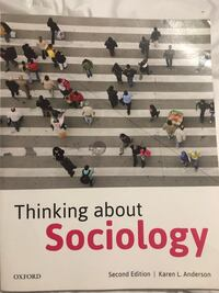 THINKING ABOUT SOCIOLOGY  Milton, L9T 7M4