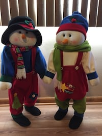 Decorative snowman couple