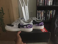 White-and-purple nike air force 1 shoes Fredericksburg, 22401