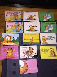 Lot of 13 New Garfield Post Cards Highland Park, 08904