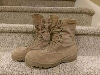 pair of brown suede combat boots Woodbridge, 22193