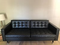 Ikea three seater leather black sofa couch Fremont, 94539