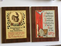 Vintage First Communion &  Confirmation Catholic Wooden Plaque Calgary, T2R 1K6