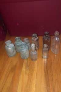 Small old glass antique glass bottles Port Coquitlam, V3B 2G8