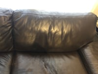 2 Seater Brown Italian leather Couch Vaughan, L4L 1S9