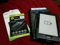 Kindle Paperwhite with cover and screen protectors Gaithersburg, 20877