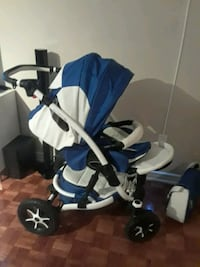 blue and white bassinet stroller Toronto, M1J 3P3
